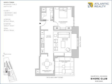 the shore floor plan fasano residences at shore club new miami florida beach