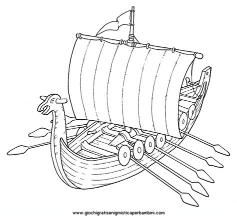 free coloring pages of viking longship