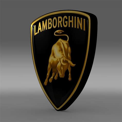 logo lamborghini 3d lamborghini logo 3d model buy lamborghini logo 3d model