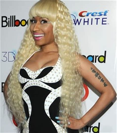 nicki minaj s chinese arm tattoo popstartats