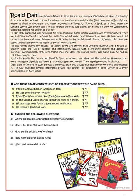 roald dahl biography lesson plan all worksheets 187 roald dahl comprehension worksheets