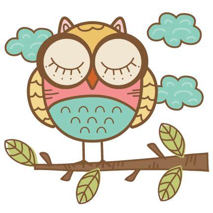 doodle owl svg cutting file cute owl clipart free svg cut