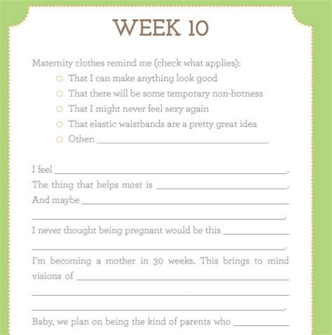 printable pregnancy journal template get a free pregnancy journal from scholarshare it s 12