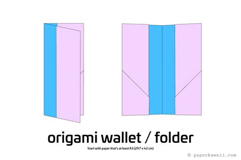 How To Make A Wallet Paper - easy origami wallet