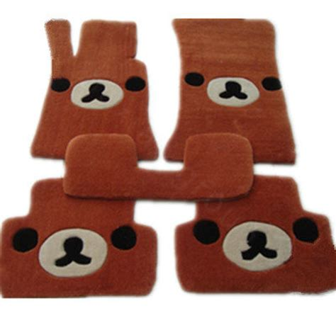 Custom Rillakuma buy wholesale winter real sheepskin rilakkuma custom made auto floor mats 5pcs sets for