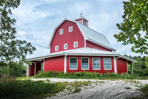 Colonial Bathroom Lighting - barndominium interior exterior farmhouse with red barn red barn metal siding