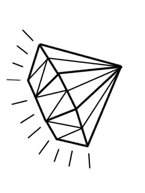 simple diamond tattoo design simple glowing black ink animated diamond tattoo on paper