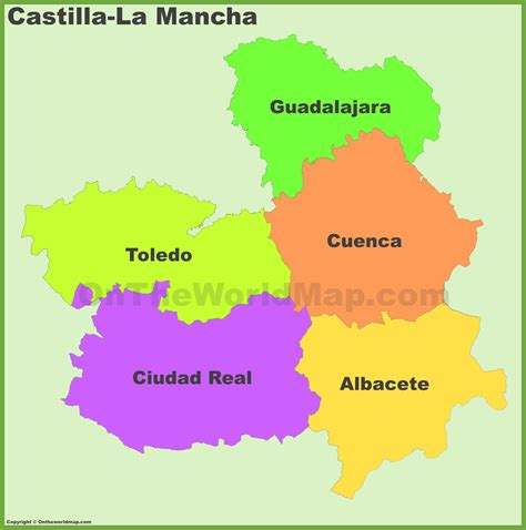 castilla la mancha provinces map