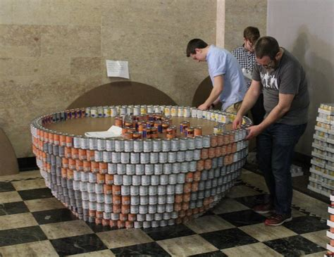 canstruction ideas canstruction builds art from food wvxu