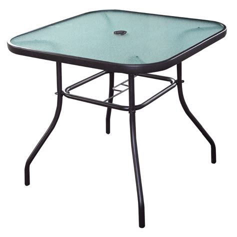 Outdoor Patio Table Ls 32 1 2 Quot Patio Square Bar Dining Table Glass Deck Outdoor Furniture Garden Pool Hw51791 In Garden