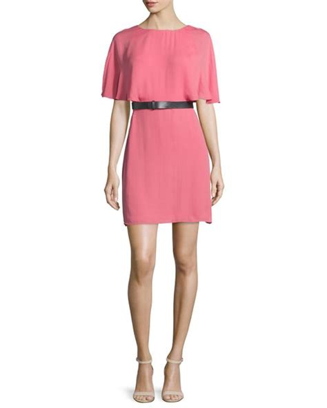 F Gucci Heritage Flats 50422 heritage sleeve belted caftan dress in pink