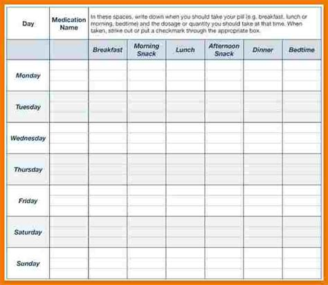 7  medication chart template   assistant cover letter
