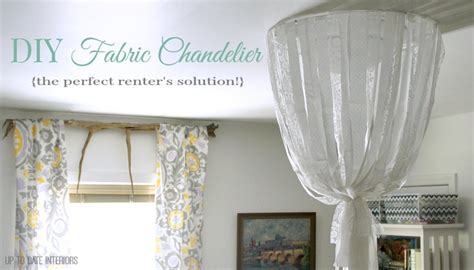 Fabric Chandelier Diy Of Course Up To Date Interiors Fabric Chandelier Diy