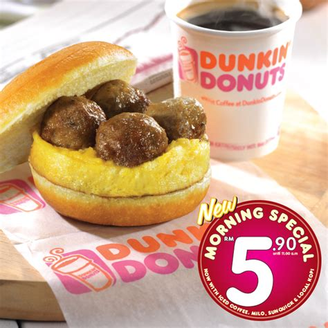 Dunkin' Donuts RM5.90 Morning Special Meal Promotion 2016