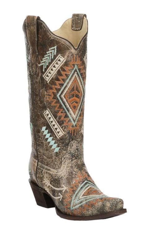 bone colored boots corral s black with bone distressed multi color