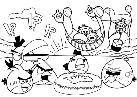 New Angry Birds Coloring Pages All Free Coloring Page Angry Birds Coloring Pages