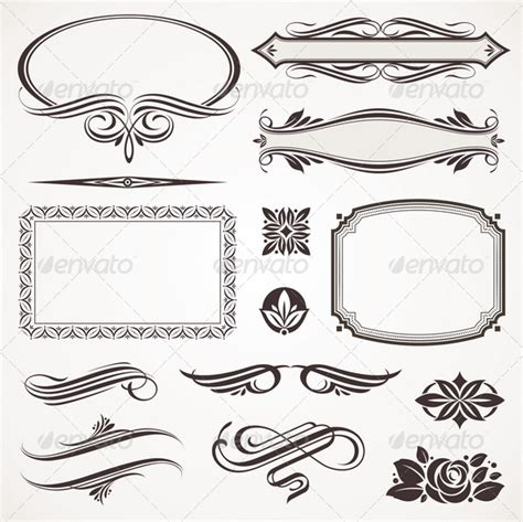 page design elements vector vector decorative design elements page decor by sergo