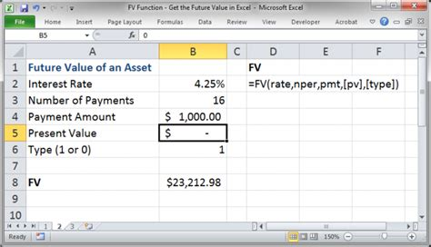 fv function get the future value in excel teachexcel com