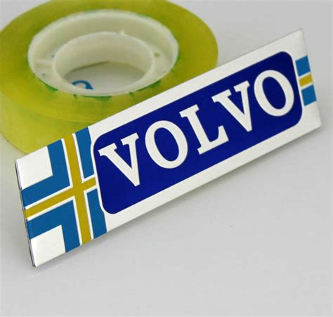 car performance alu badge emblem fenders stickers decals  sweden volvo  ebay