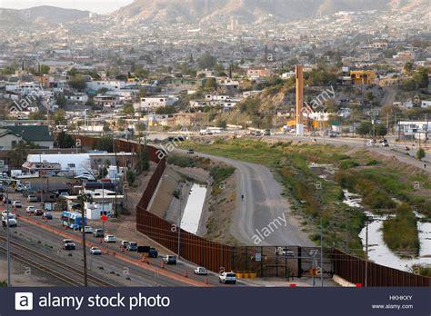 EL PASO, TX   Colin McDonald walks inside the border fence in El Stock Photo: 132539875   Alamy