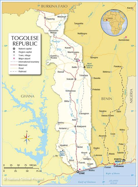 political map of togo map of togolese republic nations project