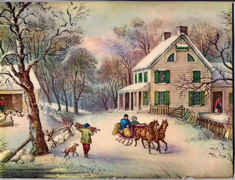 images of vintage christmas scenes vintage winter scenes google search historical things