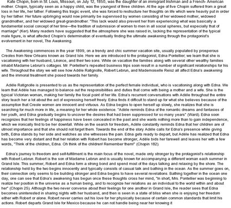 The Awakening Essay by The Awakening By Kate Chopin At Essaypedia