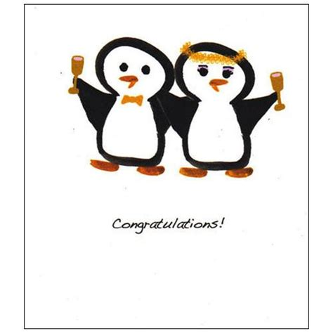 Original Penguin Gift Card - penguin couple wedding card penguin gift shop