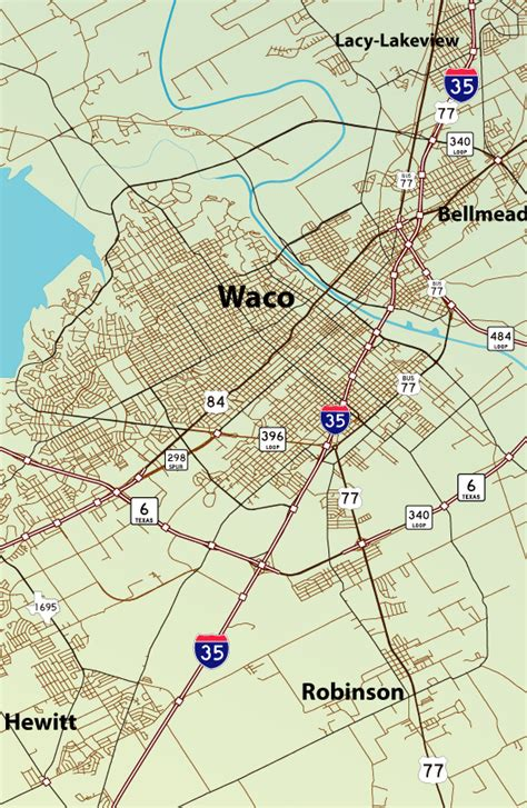 map of waco texas area texas aaroads u s highway 84 westbound waco to mcgregor
