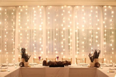 white wire curtain lights  weddings   stock