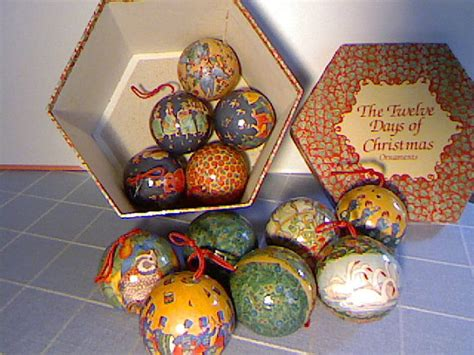 twelve days of christmas paper mache ornaments