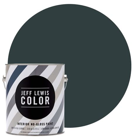 home depot paint no voc jeff lewis color 1 gal jlc314 atlantic no gloss ultra