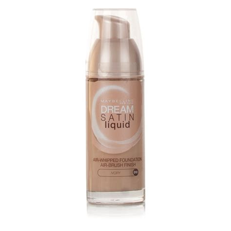 Maybelline Satin Foundation maybelline satin liquid foundation ivory 010