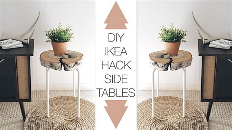 ikea gladom hack diy ikea hack side table youtube