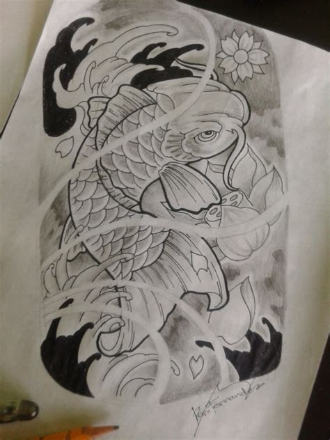 koi fish tattoo design by ran0690 on deviantart