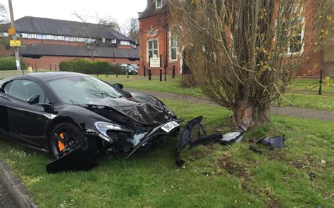 car with tree image driver crashes new 163 215 000 mclaren just 10 minutes after taking delivery