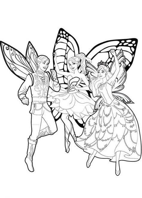 coloring pages of barbie and her friends barbie mariposa barbie mariposa and her butterfly fairy