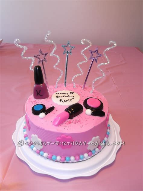 9 year old girl birthday party ideas netmumscom sweet makeup cake for an 8 year old girl sweet makeup