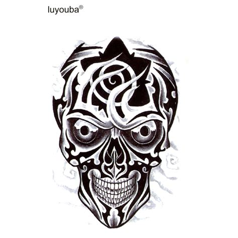 henna tattoo machine 50pcs robot mask waterproof temporary tattoos harajuku