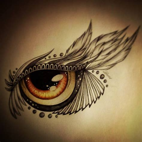 brown eye tattoo design by slightlyannoyed cake on deviantart