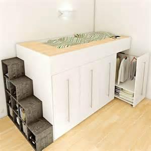 diy un lit dressing gain de place avec des rangements de