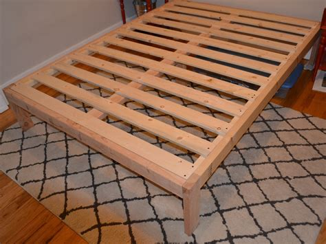 wooden bed frame plans diy bed ash and orange