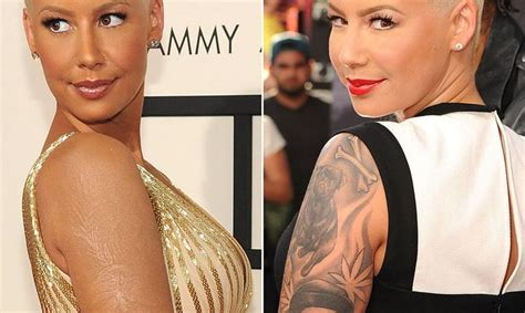 amber rose new tattoo coverup