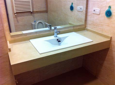 encimeras lavabos foto microcemento sobre encimera de lavabo de area 3