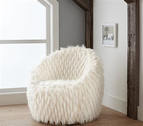 Faux Fur Chairs by Faux Fur Lounge Chair Pottery Barn
