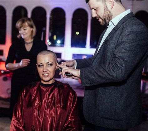 shaving bridesmaid story bride shaves her head to support terminally ill groom on