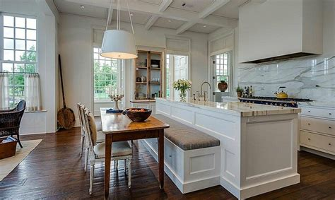built in kitchen islands with seating kitchen island with built in seating 21 genius kitchen