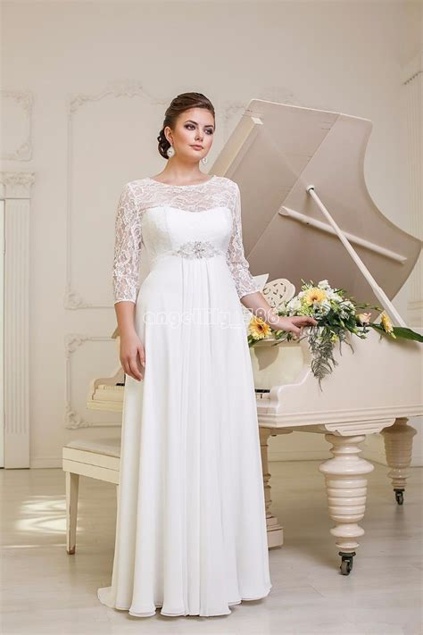 Wedding Dresses Size 20 by New Lace Chiffon Wedding Dresses Bridal Gown Custom Plus