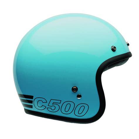 Helm Bell Custom bell helm custom 500 retro blau mit ece 24helmets