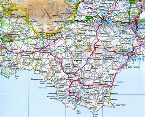 map on road ordnance survey road map 7 south west